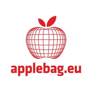 logo, jabłko, applebag